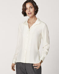 SILK WING COLLAR BLOUSE, IVORY, large