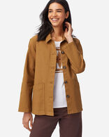 WOMENS CANVAS CHORE JACKET IN PEANUT