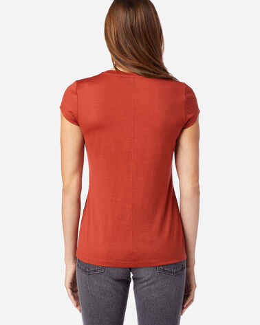 ALTERNATE VIEW OF MACHINE WASHABLE SHORT SLEEVE MERINO TEE IN RED OCHRE