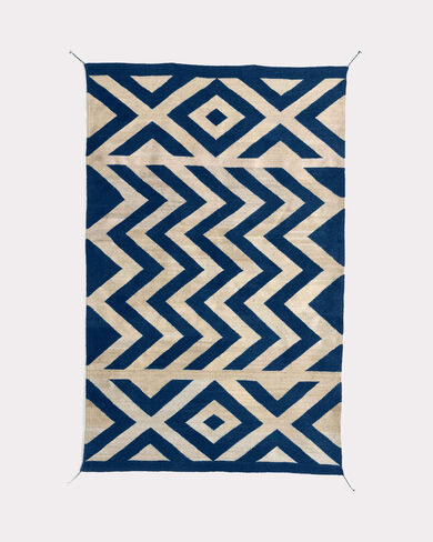 ZETA RUG, MARINE BLUE/NATURAL, large