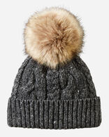 CABLE HAT IN BLACK