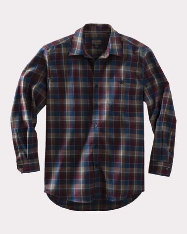 ZEPHYR WOOL SHIRT, BLUE/MAROON PLAID, large