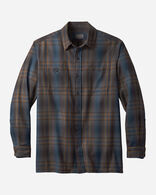 MEN'S WOOL FLANNEL SHIRT IN BROWN/TEAL OMBRE