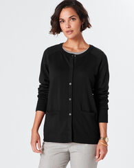 MERINO CARDIGAN, BLACK, large