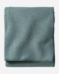 ECO-WISE WOOL SOLID BLANKET, SHALE BLUE, large