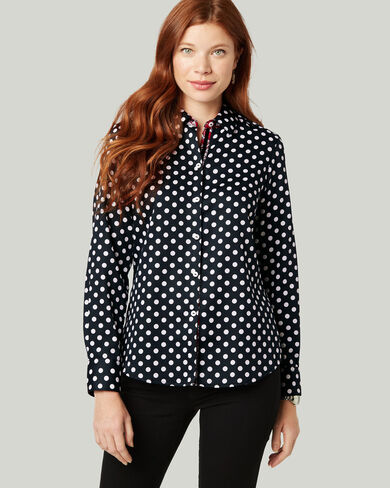 AVA POLKA DOT NON-IRON SHIRT