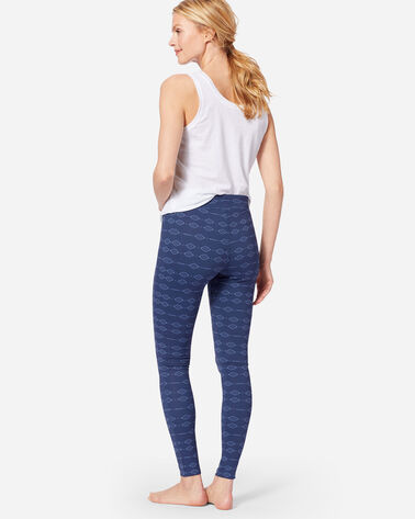 ADDITIONAL VIEW OF PRINTED LOUNGE LEGGINGS IN INDIGO