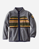 KIDS' BADLANDS FLEECE JACKET IN GREY HEATHER