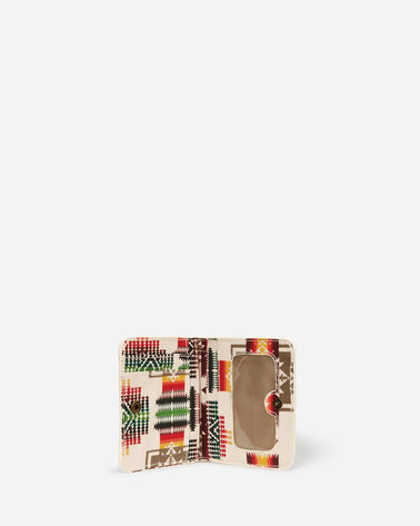 ADDITIONAL VIEW OF CHIEF JOSEPH CANOPY CANVAS SNAP WALLET IN IVORY