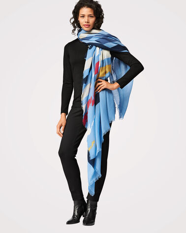 YOSEMITE PARK FEATHERWEIGHT WOOL SCARF, YOSEMITE BLUE STRIPE, large