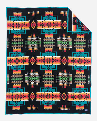 CHIEF JOSEPH BLANKET IN BLACK