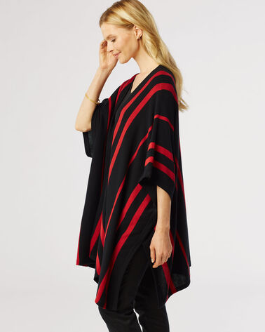 MADRONA CAPE, BLACK/TRUE RED, large
