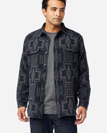MEN'S DOUBLESOFT FLANNEL BEACH SHIRT IN BLACK/GREY HARDING