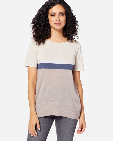 WOMEN'S SHORT SLEEVE MERINO PULLOVER