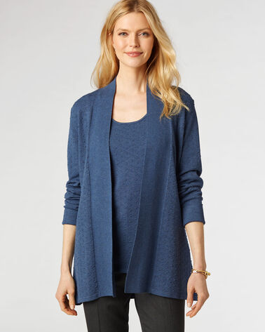 BRIDGETTE DOT CARDIGAN, STEEL BLUE, large