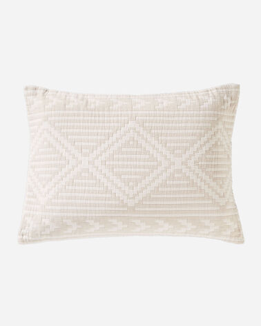 GANADO COTTON MATELASSE SHAM IN BEIGE