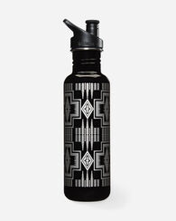 HARDING WATER BOTTLE, BLACK/SILVER, large
