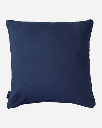 ALTERNATE VIEW OF CHIEF STAR PRINTED KILIM SQUARE PILLOW IN NAVY