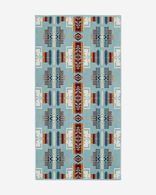 CHIEF JOSEPH BATH TOWEL IN AQUA