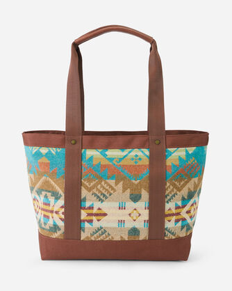 ALTERNATE VIEW OF JOURNEY WEST ZIP TOTE IN TURQUOISE