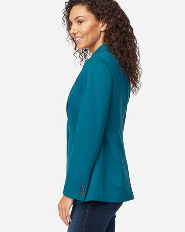ALTERNATE VIEW OF WOMEN'S SEASONLESS WOOL BLAZER IN MOROCCAN BLUE