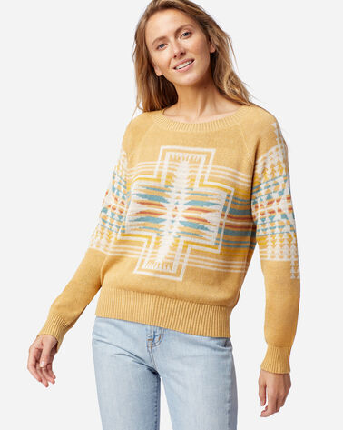 WOMEN'S HARDING RAGLAN COTTON SWEATER IN GOLD