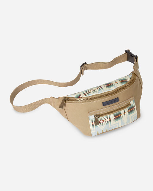 HARDING CANOPY CANVAS WAIST PACK IN AQUA