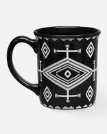 LOS OJOS COFFEE MUG IN BLACK/WHITE