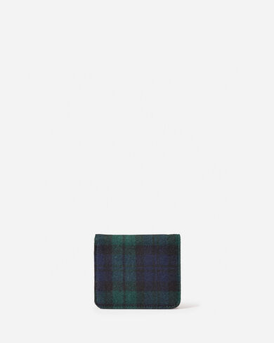 BLACK WATCH TARTAN SNAP WALLET, BLACK WATCH TARTAN, large