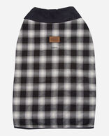 X-LARGE PLAID DOG COAT IN CHARCOAL OMBRE