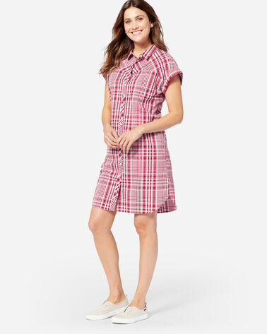 ADDITIONAL VIEW OF SUNNYSIDE TWO POCKET SHIRT DRESS IN RED ROCK