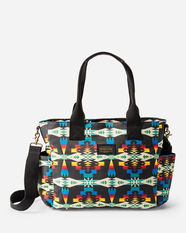 TUCSON CANOPY CANVAS SUPER TOTE IN BLACK/MULTI