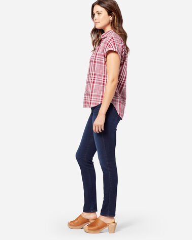 WOMEN'S SUNNYSIDE PLAID SHIRT, RED ROCK, large