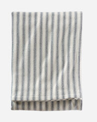TICKING STRIPE BRUSHED COTTON BLANKET