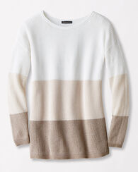 COLORBLOCK PULLOVER, WHITE/VANILLA, large