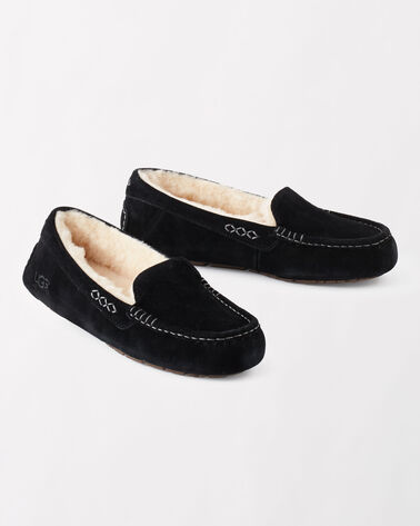 ANSLEY MOCCASIN SLIPPERS, BLACK, large