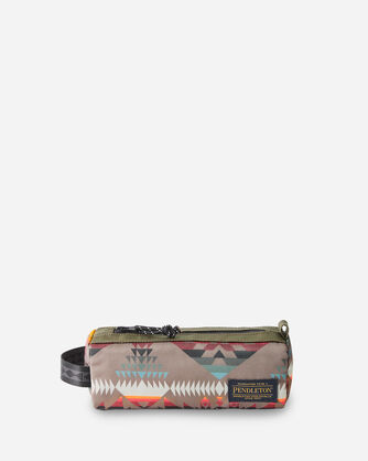 BASKET MAKER CANOPY CANVAS ZIP POUCH IN OLIVE