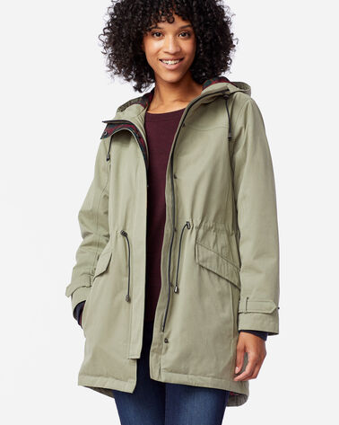 WOMEN'S ELLIOTT BAY HOODED COAT IN OREGANO