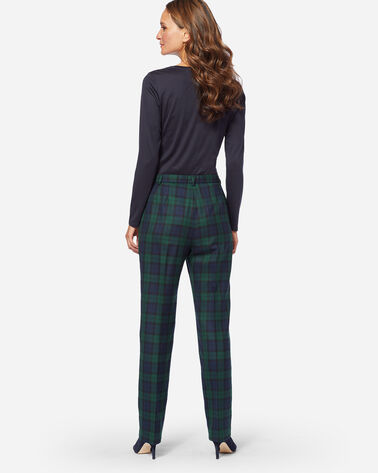 ADDITIONAL VIEW OF BLACK WATCH TRUE FIT TROUSERS IN BLACK WATCH TARTAN