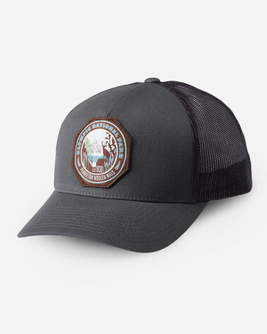 NATIONAL PARK TRUCKER HAT IN CHARCOAL OLYMPIC