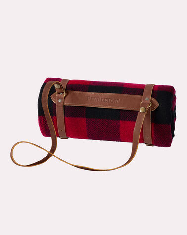 MOTOR ROBE WITH LEATHER CARRIER, ROB ROY TARTAN, large