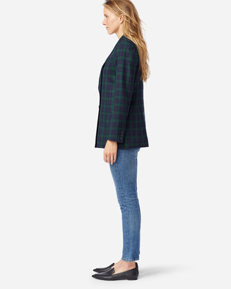 ALTERNATE VIEW OF WOMEN'S AIRLOOM MERINO PRESTON BLAZER IN BLACK WATCH TARTAN