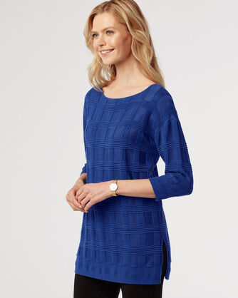 TEXTURED TUNIC, CATALINA BLUE, large