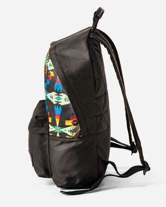 ADDITIONAL VIEW OF TUCSON CANOPY CANVAS BACKPACK IN BLACK/MULTI