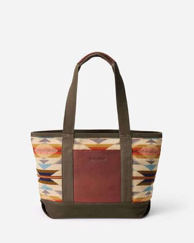 WYETH TRAIL ZIP TOTE IN IVORY