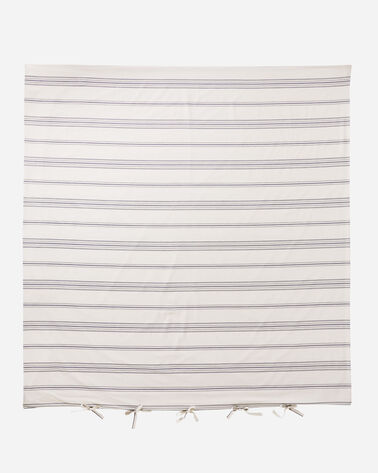 TICKING STRIPE DUVET COVER SET, IVORY, large