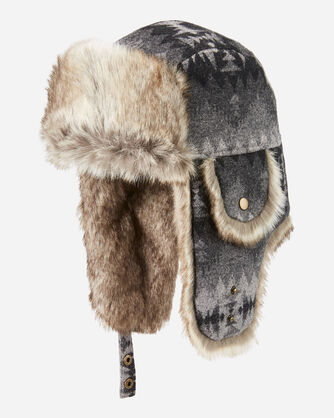 SONORA TRAPPER HAT IN GREY MIX