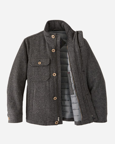 ALTERNATE VIEW OF MEN'S ANCHORAGE WOOL DOWN JACKET IN ASH GREY