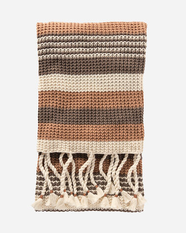 HORIZON STRIPE THROW, TAN MULTI, large