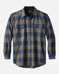 GUIDE SHIRT, BLUE/TAUPE CHECK, large
